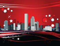 Panorama de la ciudad Imagen de archivo libre de regalías