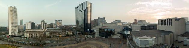 Panorama de la ciudad de Birmingham Foto de archivo libre de regalías