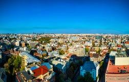Panorama de la ciudad de Bucarest, Rumania Foto de archivo libre de regalías