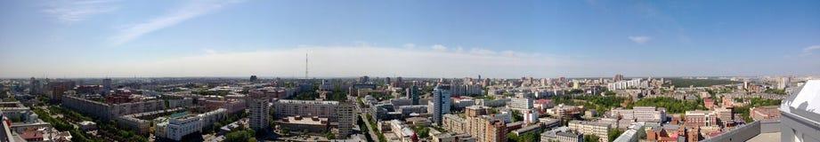 Panorama de la ciudad de Cheliábinsk fotos de archivo
