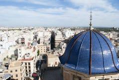 Panorama de la ciudad de Elche en España Fotografía de archivo