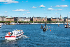 Panorama de la ciudad de Estocolmo Suecia, Europa Foto de archivo