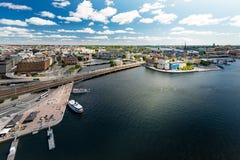 Panorama de la ciudad de Estocolmo Suecia, Europa Fotos de archivo libres de regalías