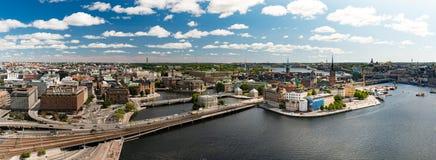 Panorama de la ciudad de Estocolmo Suecia, Europa Fotografía de archivo
