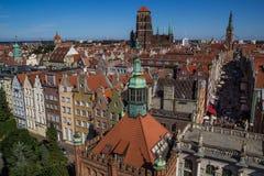 Panorama de la ciudad de Gdansk fotos de archivo libres de regalías
