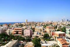 Panorama de la ciudad de Jafo Foto de archivo libre de regalías