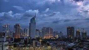 Panorama de la ciudad de Jakarta fotografía de archivo