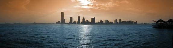 Panorama de la ciudad de Jersey Foto de archivo libre de regalías