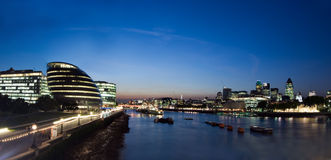 Panorama de la ciudad de Londres Foto de archivo libre de regalías