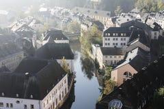 Panorama de la ciudad de Luxemburgo Foto de archivo libre de regalías