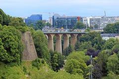 Panorama de la ciudad de Luxemburgo Imágenes de archivo libres de regalías