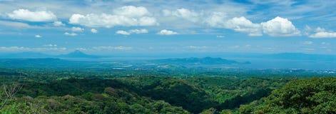 Panorama de la ciudad de Managua Imágenes de archivo libres de regalías