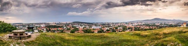 Panorama de la ciudad de Nitra Imagen de archivo libre de regalías