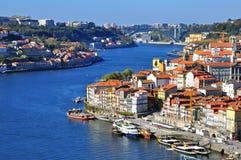 Panorama de la ciudad de Oporto Imagenes de archivo