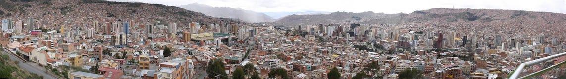 Panorama de la ciudad de Paz de La Imagen de archivo