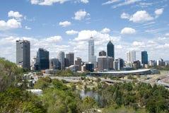 Panorama de la ciudad de Perth Fotos de archivo