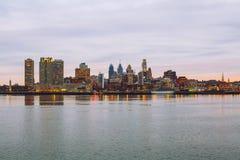 Panorama de la ciudad de Philadelphia imagenes de archivo