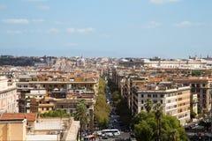 Panorama de la ciudad de Roma Fotos de archivo