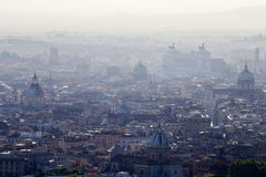 Panorama de la ciudad de Roma Fotos de archivo libres de regalías