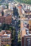 Panorama de la ciudad de Roma imágenes de archivo libres de regalías