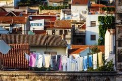 Panorama de la ciudad de Sibenik imágenes de archivo libres de regalías