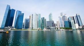 Panorama de la ciudad de Singapur Imagenes de archivo
