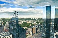 Panorama de la ciudad de Tallinn Imagen de archivo libre de regalías