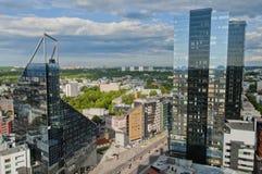 Panorama de la ciudad de Tallinn Fotografía de archivo libre de regalías
