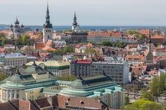 Panorama de la ciudad de Tallinn Imagenes de archivo