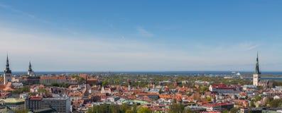 Panorama de la ciudad de Tallinn Imágenes de archivo libres de regalías