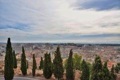 Panorama de la ciudad de Tudela Fotografía de archivo libre de regalías