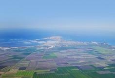 Panorama de la ciudad de vacaciones del aire Imagen de archivo libre de regalías