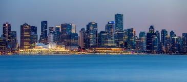 Panorama de la ciudad de Vancouver fotos de archivo