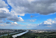 Panorama de la ciudad de Viena Imágenes de archivo libres de regalías