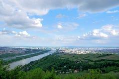 Panorama de la ciudad de Viena Foto de archivo libre de regalías