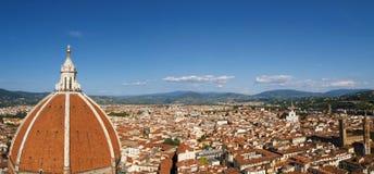 Panorama de la ciudad del Duomo de Florencia Foto de archivo