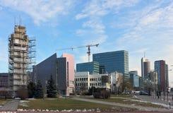 Panorama de la ciudad del negocio Fotos de archivo libres de regalías
