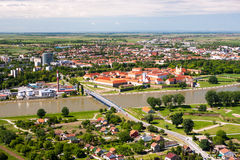 Panorama de la ciudad del Osijek imagen de archivo libre de regalías