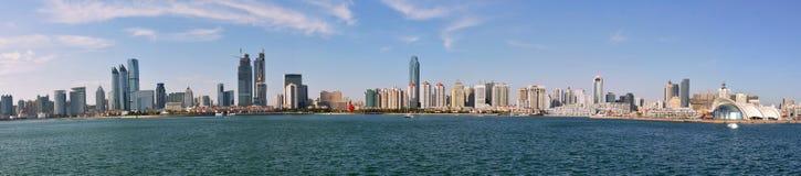 Panorama de la ciudad en qingdao Foto de archivo