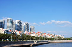 Panorama de la ciudad en qingdao Fotografía de archivo