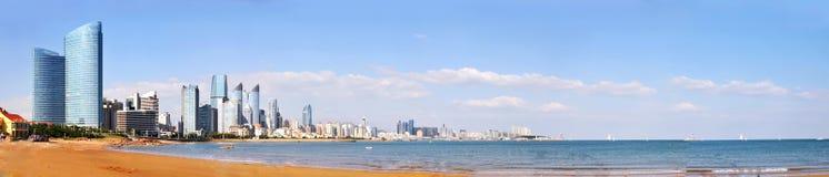 Panorama de la ciudad en qingdao Foto de archivo libre de regalías