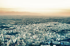 Panorama de la ciudad griega Imagenes de archivo
