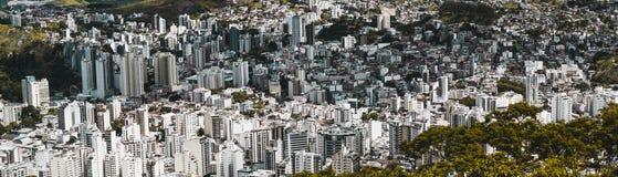 Panorama de la ciudad de Juiz de Fora del punto álgido Foto de archivo libre de regalías