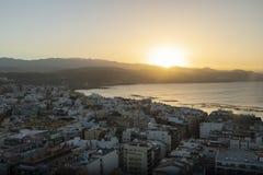 Panorama de la ciudad de Las Palmas de Gran Canaria fotografía de archivo libre de regalías