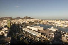 Panorama de la ciudad de Las Palmas de Gran Canaria foto de archivo libre de regalías