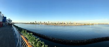 Panorama de la ciudad de Long Beach fotografía de archivo libre de regalías