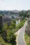 Panorama de la ciudad Luxemburgo Foto de archivo libre de regalías