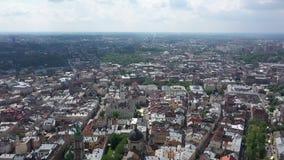 Panorama de la ciudad de Lviv, Ucrania almacen de video