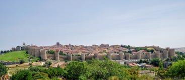Panorama de la ciudad medieval de Ávila, España fotos de archivo libres de regalías