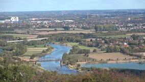 Panorama de la ciudad Minden alemania Paisaje urbano almacen de metraje de vídeo